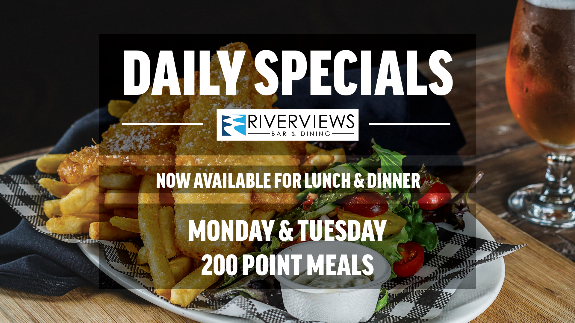 Daily Specials MON TUES Media Screen LS